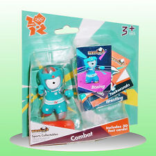 London 2012 - Wenlock Action Figure Olympic Combat Boxing with 3D Cards - NEW