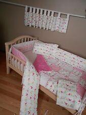 Baby Pink  PENELOPE BIRD Fabric from Pottery Barn Crib Bedding Set Birds