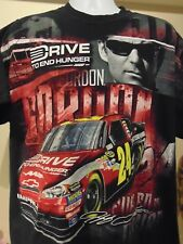 "NASCAR Jeff Gordon #24 ""Drive to End Hunger"" graphic t-shirt XL"