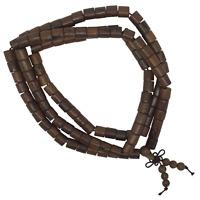 Natural Wood 108 Japa Mala Barrel Shape Beads Hand Made Yoga Mantra Meditation