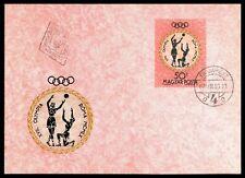 UNGARN MK 1960 OLYMPIA ROM OLYMPICS BASKETBALL MAXIMUMKARTE MAXIMUM CARD MC cn66