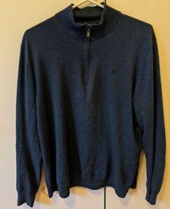 Hackett Quarter Zip Sweater Blue XL