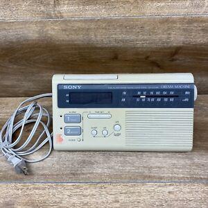 Sony ICF-C220W Dream Machine Radio AM/FM Vintage Dual Alarm Digital Clock Tested