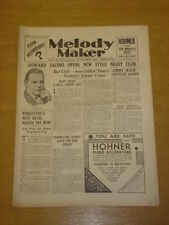 MELODY MAKER 1933 OCT 21 HOWARD JACOBS JIMMY MACK BIG BAND SWING