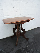 Early Victorian Eastlake Walnut Side Table  Center Table 7059