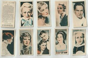 1934  Set 50  Film Stars H & Sh. Portraits (mimicing the Silver Screen (F87)