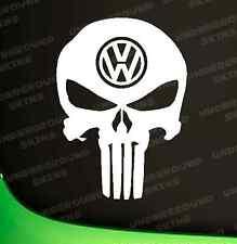 VOLKSWAGON VW PUNISHER FUNNY CAR STICKER FUNNY EURO DUB VINYL DECAL CADDY GOLF