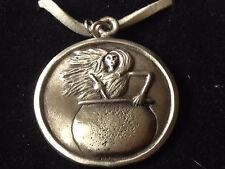 """Baba Yaga dr108 the wise ol  Made From English Pewter On 18"""" White Cord Necklace"""