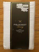 Fieldcrest Target White Queen Tailored Bed Skirt/Dust Ruffle w/Woven Pattern NEW