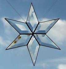 Bleiverglasung Fensterbild Facetten - Weihnachtsstern 22 cm in Tiffany