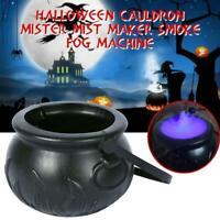 LED Halloween Witch Pot Mist/Smoke Fog Machine Colour Changing Creepy Decoration