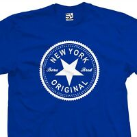 New York Original Inverse T-Shirt - Born and Bred in NY Tee - All Sizes & Colors