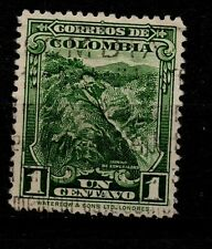 Colombia 1c green nice used stamp AZ