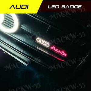 Audi Logo LED Light Car Front Grille Emblem Badge Illuminated Bumper Sticker x1