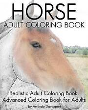 Horse Adult Coloring Book Realistic Adult Coloring Book Advance by Davenport Ama