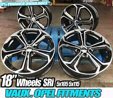 "18"" INSIGNIA VXR STYLE WHEELS GLOSS BLACK POLISHED VAUXHALL ZAFIRA TOURER 5X115"