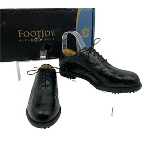 FootJoy Golf Shoes Womens Size 8 Wide Black Leather Europa Collection 99202 New