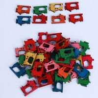 50Pcs Mixed Colours Horse Wooden Sewing Buttons Scrapbooking Craft 2 Holes FM