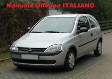 OPEL CORSA C Pre-Post Restyling 2000/2006 Manuale Officina Riparazione ITALIANO
