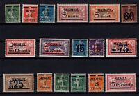 PP137606/ FRENCH MEMEL – YEARS 1920 - 1922 MINT MNH SEMI MODERN LOT – CV 111 $