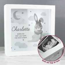 Personalised Baby Bunny Memory Keepsake Box Christenings and Baby Showers Gift