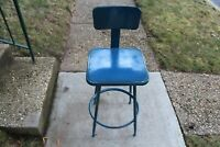 Vintage Industrial Metal Machine Shop Chair Stool #2 Royal Metal Corporation USA