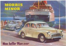 Morris Minor 1000 MODERN postcard by Beric