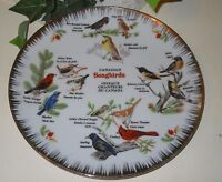VINTAGE CANADA SONGBIRDS BIRDS COLLECTIBLE PLATE NUMBERED HANDPAINTED #3-T