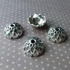 30 pcs Antique Silver Acorn Bead Cap 15 mm
