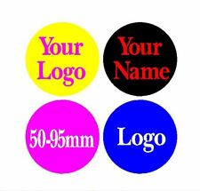x4 YOUR NAME LOGO PERSONALISED ALLOY WHEEL CENTRE CAP STICKERS 50-95mm MUSTANG