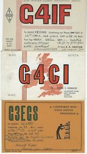 GREAT BRITAIN - SMALL LOT QSL CARDS AMATEUR RADIO