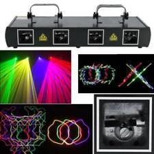 460mW DMX 4 Lens Laser Bühnenbeleuchtung Bühnelicht Lasereffekt Disco Party CO