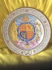Striking Paragon  King George VI 1937 Coronation Large Plate