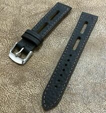 Size 18/20/22mm Sport Racing Rally Vintage Brown Leather Watch Strap/Band #147