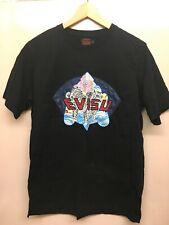 Evisu Heritage Custom Made Short Sleeve Crew Neck T-Shirt Top Black Size L