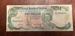 BELIZE 1 DOLLAR 1987 BANKNOTE