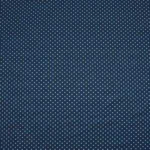 "Chambray Denim Printed Cotton Polka Dot Blue, 60"""