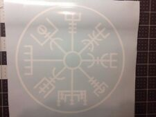 Norse Protection Symbol, Vegvísir, Viking Runic Compass Sticker Decal 8x8