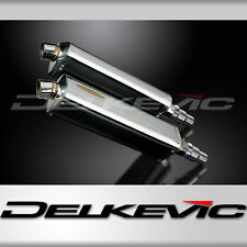 """Triumph Speed Triple 1050 17"""" Stainless Tri-Oval Muffler Exhaust 11 12 13 14"""