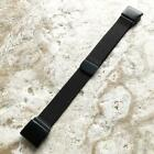Black Milanese Quick Fit Band Strap for Garmin Forerunner and Instinct -A22B20