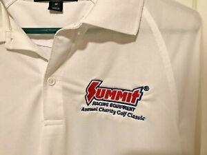 SUMMIT RACING EQUIPMENT -Annual Charity GOLF Classic White Polo Shirt New Medium