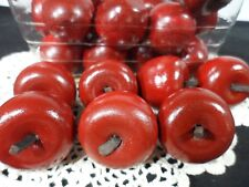 *Decorative pieces -Crabapple size wood red balls with a stem
