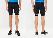 New ASICS Men's running shorts /zip pocket/sprinter/ drawstring waist/black/ £35