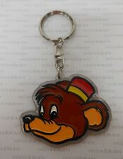 Vintage 1990s Disney Japan Run'A BONGO THE BEAR Fun &Fancy Free Plastic Keychain