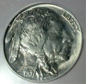 1937 USA Buffalo Nickel Uncirculated ICG MS66 Condition BLAST WHITE!!  (392)