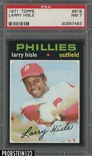 1971 Topps #616 Larry Hisle Philadelphia Phillies PSA 7 NM