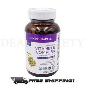 New Chapter Fermented Vitamin B Complex Gluten Free, 30 Vegan Tablets EXP 11/21