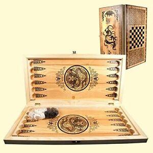 Backgammonspiel Nardy Holz Spielbrett Gesellschaftsspiel Нарды 500 x 500 mm
