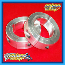 GO KART 40MM AXLE COLLAR PAIR 2 BOLT SPLIT TYPE ALLOY COLLAR PREVENT AXLE SLIP