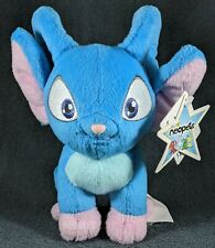 """NWT 2004 Blue Acara Neopets Plushie Stuffed Animal 6"""" toy alien cat Star tag"""